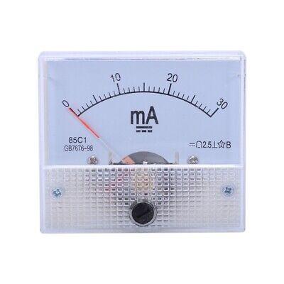 Dc 0-30ma Analog Current Panel Meter Ammeter 85c1 30ma White O5v5