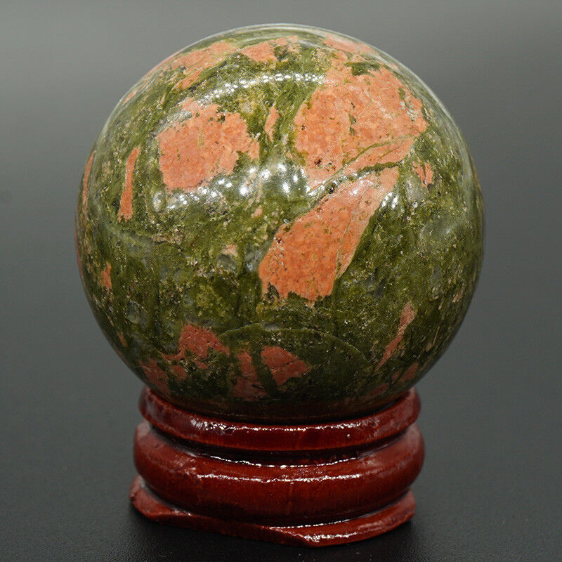 40 MM Wholesale Natural Stone Sphere Crystal Healing Hand Massage Ball & Stand