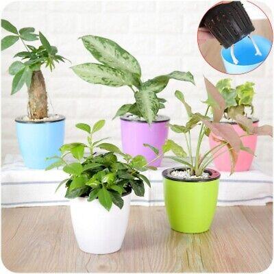 1PCS Flower Pots Plastic Self Watering Pot Planter Flower Pot Decorative Gift