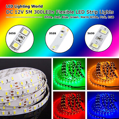 5M 300LED 3528 5050 5630 Flexible LED Strip for Home Garden Party Wedding Decor