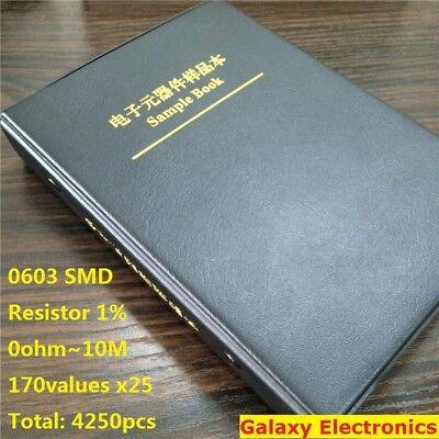 0603 1 Smd Smt Chip Resistors Assortment Kit 170values X25 Assorted Sample Book