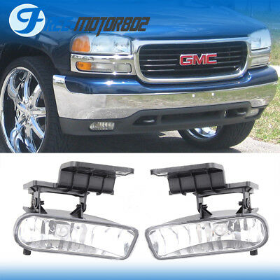 Fit  99 02 Chevy Silverado 00 06 Suburban Tahoe Clear Lens Fog Light Lamp 2PCS