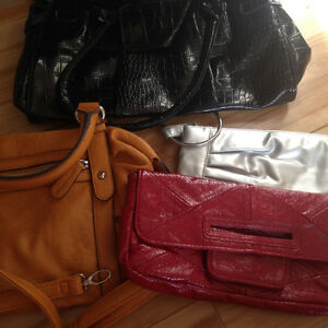 4 purses, never worn asking 40 for the four.