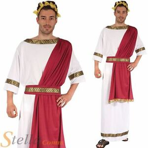 Mens Greek God Roman Toga Costume Julius Caesar Fancy Dress Adult Outfit