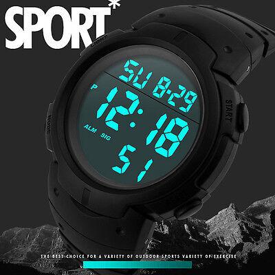 Orologio da uomo impermeabile RAGAZZO SPORT LCD Digitale Cronometro Data Gomma
