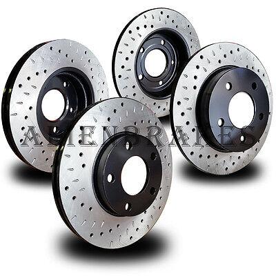 LAN012S Land Rover LR2 2013-15 Brake Rotors Cross Drill & Dimple Slots