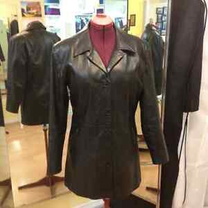 Black Leather Jacket - like new (size 12)