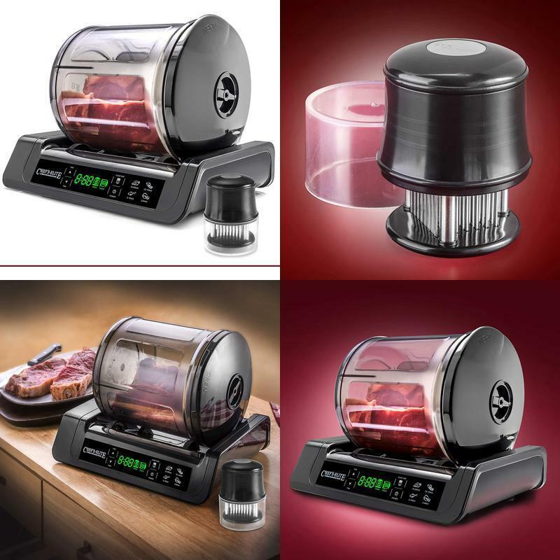 Meat & Vegetable Vacuum Marinator Tenderizer Tumbler Canister Digital Machine