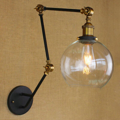 Industrial Style Antique Retro Black Metal Swing Arm Wall Lamp Wall Light Sconce Black Swing Arm Wall Lamp