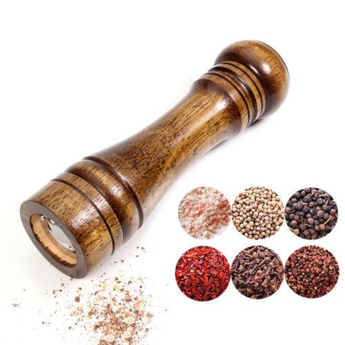 Salt Pepper Grinder Mill Oak Hand Movement Wooden Kitchen Co