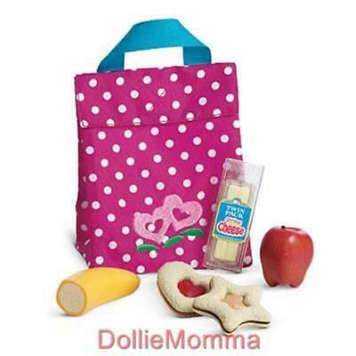 New American Girl Bitty Baby Twin SNACK SET Play Food School Lunch Bag ShipsFREE