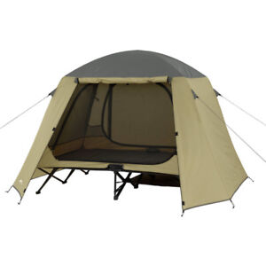 Ozark Trail 2 Person Cot Tent Hunting Padded Floor Camping Eleva