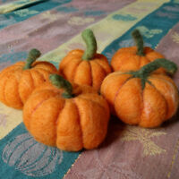 Needle Felting Mini Pumpkins