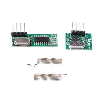 1 Set 433mhz Superheterodyne Rf Receiver Transmitter Module Kit With 2 Antennas