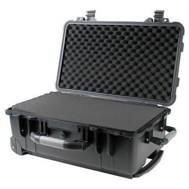 """22"""" Rolling Weatherproof Case for Drone Camera Gun w/ Peli"""