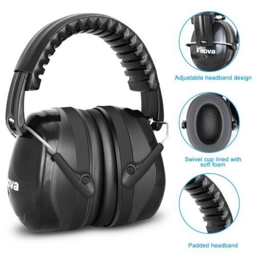 Black Ear Muff Hearing Protection Folding/Adjustable Work/Hu