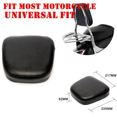 New Motorcycle Sissy Bar Back Seat Backrest Cushion Pad For Harley Chopper Black