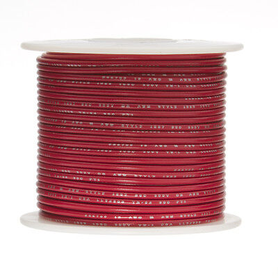 18 Awg Gauge Solid Hook Up Wire Red 100 Ft 0.0403 Ul1007 300 Volts