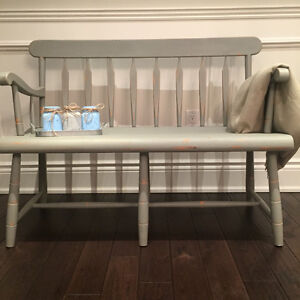 Rustic Hall Entryway Deacons Bench Shabby Chic Solid Maple