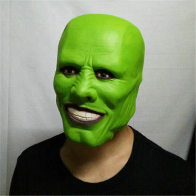 The Mask Movie Jim Carrey Green Latex Mask Costume Cosplay Prop Halloween Party](The Mask Halloween Costume Jim Carrey)