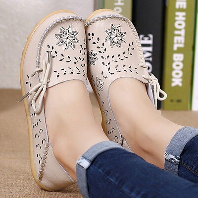 New Women Ballet Flats Shoes Casual Comfort Slip On Boat Loafers Shoes 2018
