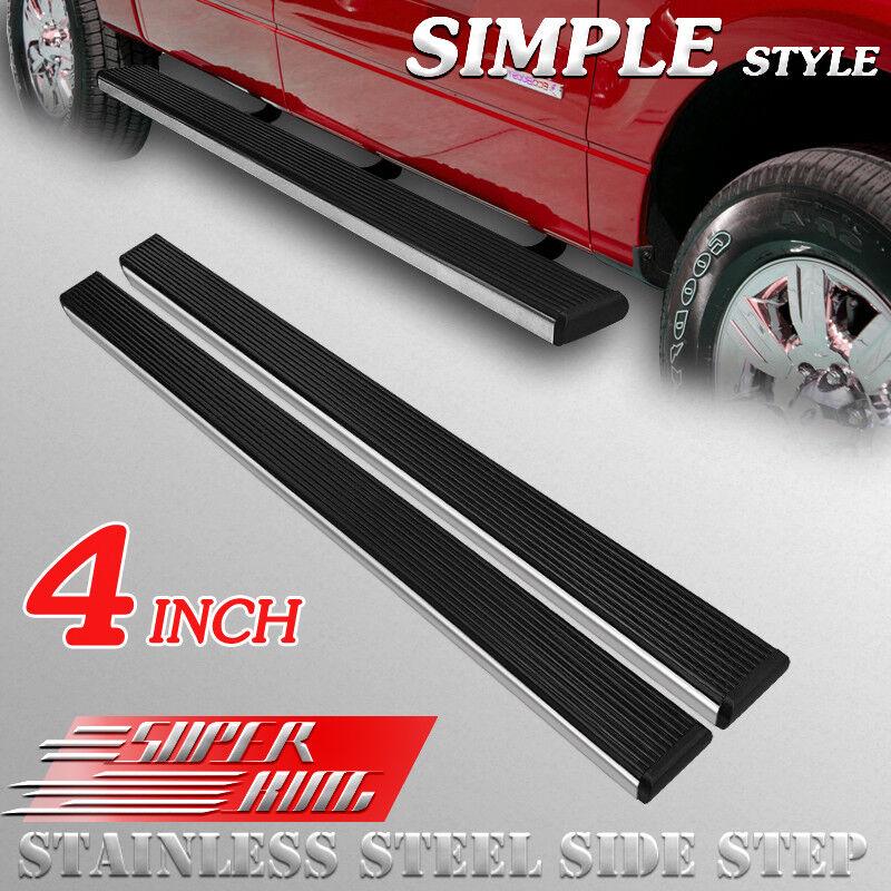 "Fit 15-19 FORD F150 SUPER CREW CAB 3/"" Side Step Running Board Nerf Bar BLACK BD"