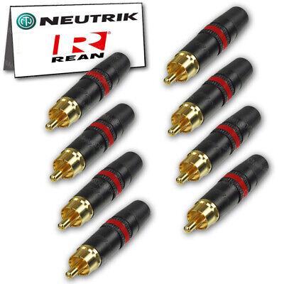 2 m XLR to RCA Audiophile Cables ~ Pair of Evidence Audio Forte Neutrik Profi