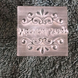 Acrylic Soap Stamp