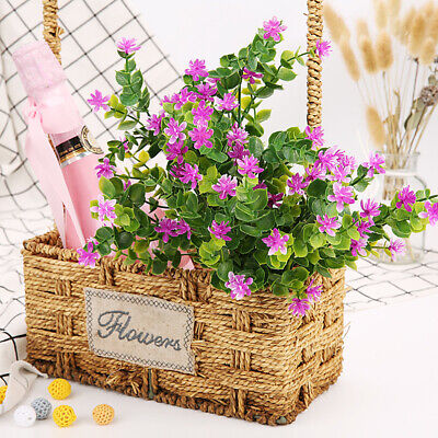 Artificial Eucalyptus Plant Plastic Outdoor Flower Grass Plants Party Home Decor ()