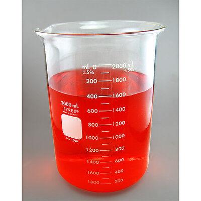 Nc-0077 Pyrex Beaker 2000ml 2l Corning Made In Germany. Heat Resistant.