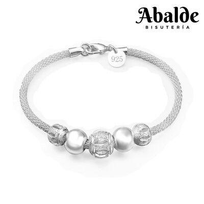 5bb8ae45d2f4 Pulsera Pulseras Mujer Color Plata Cascabel Joya Elegante Regalo idea  Cumpleaños