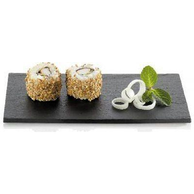 Box of 100 Rectangular Mini Black Sushi Textured Plateau AT189 180 x 90mm K8B