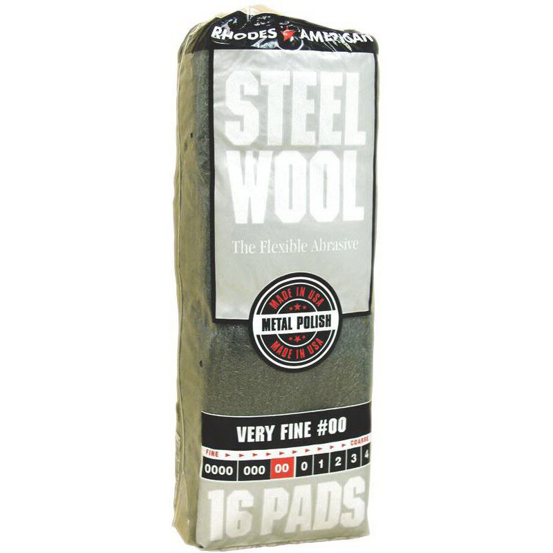 Rhodes 106102 Very Fine #00 Steel Wool, 16 Pads