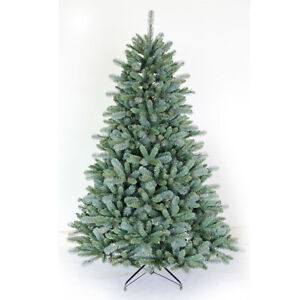 Beautiful, realistic, 7.5 foot unlit spruce tree by Puleo