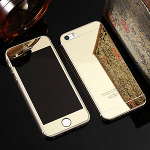Iphone 6 6s Plus Tempered Glass Mirror Gold Finish Front + Back Windsor Region Ontario image 1