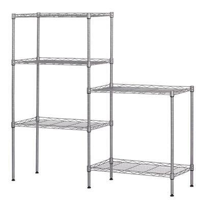 60x22x12 Heavy Duty 5layer Wire Shelving Rack Adjustable Shelf Storage Silver