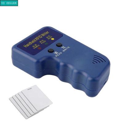 Portable Handheld Card 125KHz RFID ID Copier/Writer/Duplicator + 5pc ID Cards US