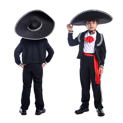 2018 Best Halloween Mexican Mariachi Amigo Dancer Kids Costume Boys Party Child  - Best Halloween Costume Kids