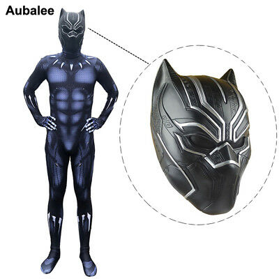 Movie Black Panther Adult Superhero Cosplay Men Halloween Carnival Party Costume](Black Panther Party Halloween Costumes)