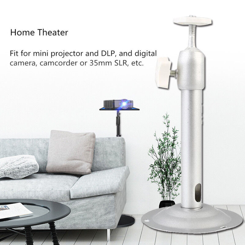 Premium Projector Wall Mount Ceiling Stand Silver Aluminum A