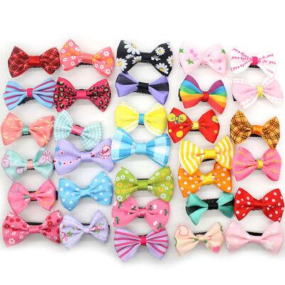 10pcs/lot Mixed Bow Kids Children Girls ribbon Hair Clip Duckbill Hairpins