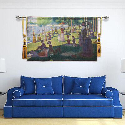 """Belgian  tapestry """"Sunday afternoon of Big Bowl Island"""" background wall painting"""