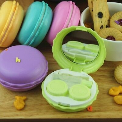 1PC Mini Contact Eye Pupil Lens Case Travel Kit Portable Mirror Container