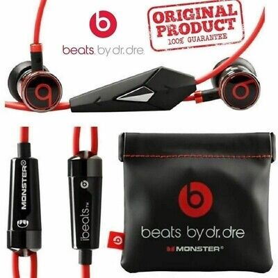 Genuine Monster Beats By Dr. Dre iBeats In-Ear Earphones Headphones Remote Mic