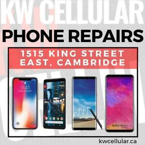 Phone & Tablet Repairs, Buy/Sell, & Protection Gear @ KW Cellular --- 1515 King Street E, Cambridge
