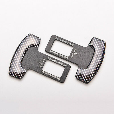 Kohlefaser auto sicherheitssitz gürtelschnalle alarm stopper clip clamp 4H UE (Auto Sitz Stopper)