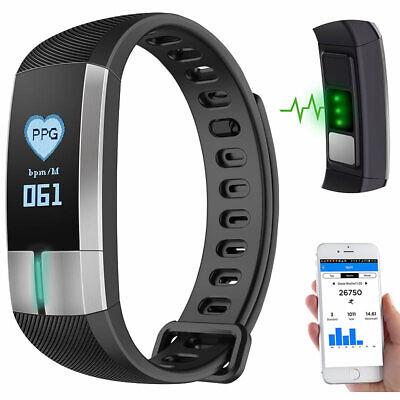 Ekg-anzeige (Fitness-Armband mit Blutdruck-, Herzfrequenz- und EKG-Anzeige, IP67)