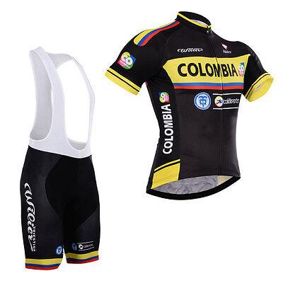 (New Mens Cycling Short Sleeve Shirt Bib Shorts Suit Riding Jerseys Tights Kits)