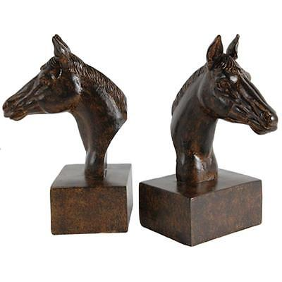 Horse Head Bookends - Equestrian - Horse Lover 5.1 x 4 x 8 H Inches  PRICE DROP