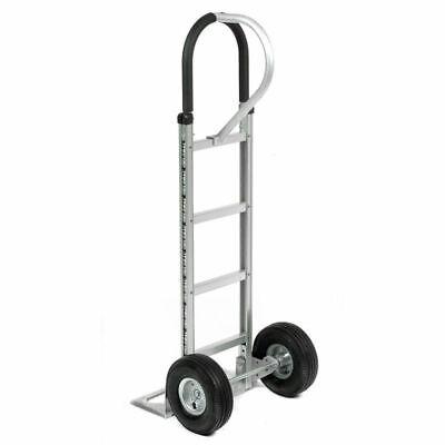 Aluminum Cart Dolly Folding Hand Truck Stair Climber Pneumatic Wheels Lightweigh